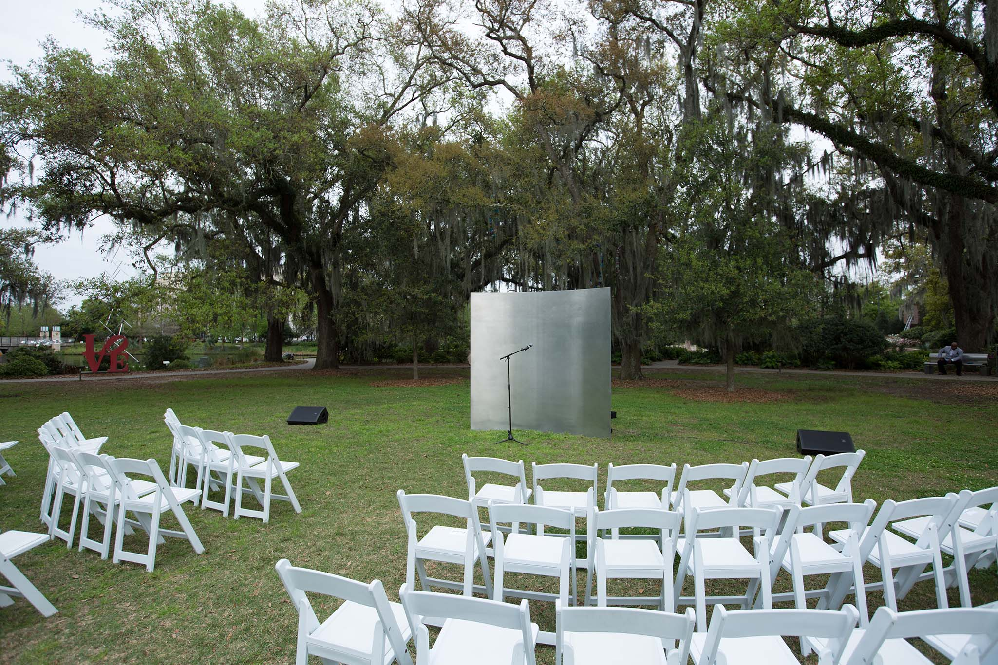 Custom backdrop for a wedding in New Orleans