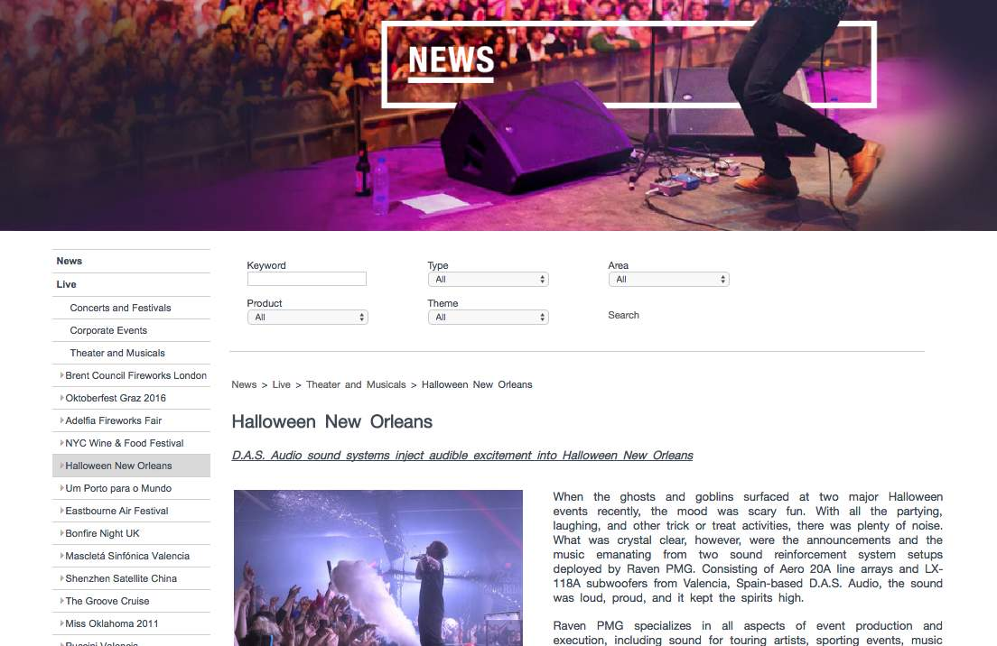 Das Audio Halloween New Orleans article