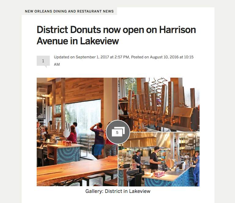 District Donuts Lakeview article